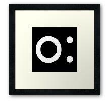 o: (White) Framed Print