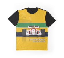Ayrton Senna - McLaren MP4/8 with Helmet colours Graphic T-Shirt