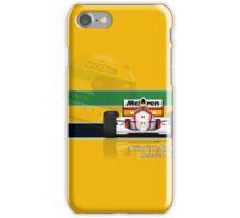 Ayrton Senna - McLaren MP4/8 with Helmet colours iPhone Case/Skin