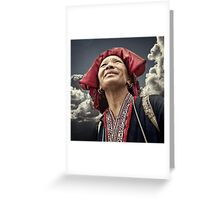 Red Dao Lady Greeting Card