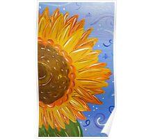 Sunflower Painted Half Poster