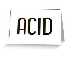 Acid Logotype Greeting Card