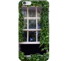 Window on leafy Cotswolds house facade, UK iPhone Case/Skin