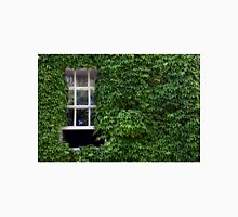 Window on leafy Cotswolds house facade, UK T-Shirt