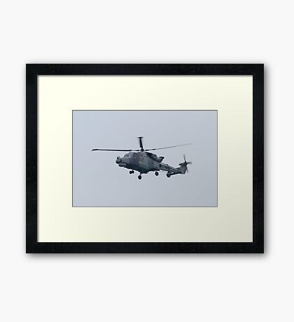 Royal Navy Lynx Helicopter Framed Print