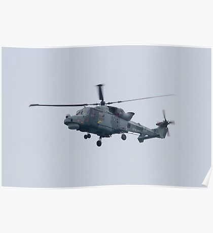 Royal Navy Lynx Helicopter Poster
