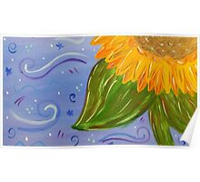 Sunflower Painted Quarter Poster