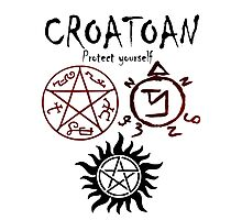 CROATOAN-protect yourself Photographic Print