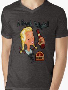 A Fresh Delight! Sunset Sarsaparilla Mens V-Neck T-Shirt