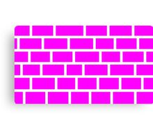 Pink Brick - White Lines Canvas Print