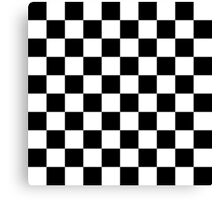 Black checkerboard Canvas Print