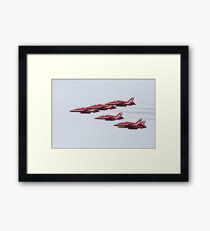 RAF Red Arrows Aerobatic Display Team Framed Print