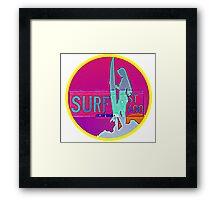 Surf Circle Framed Print