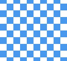 Baby Blue Checkerboard by BuzzEdition