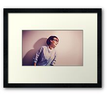 Portrait of beautiful charming smiling woman Framed Print