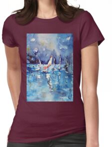 Sailboats Womens Fitted T-Shirt