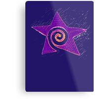 Spiraling Star * Metal Print