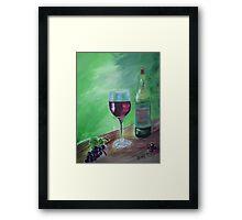Finger Lakes Wine Framed Print