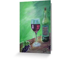 Finger Lakes Wine Greeting Card