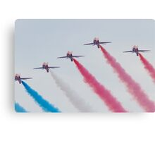 RAF Red Arrows Aerobatic Display Team Canvas Print