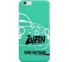 Lupin Central - Fiat 500 Plate iPhone Case/Skin