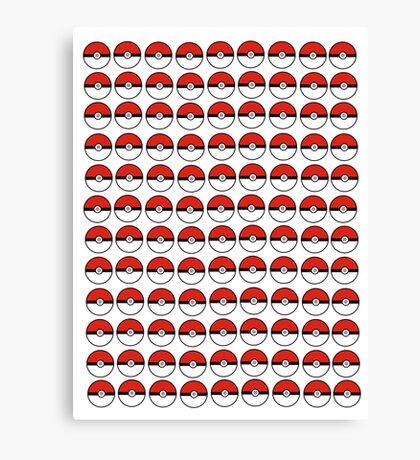 Pokemon - Pokeballs  Canvas Print