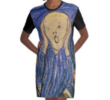 The Scream (Pastel) Graphic T-Shirt Dress