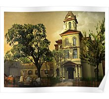Vintage Cabarrus County Courthouse Poster