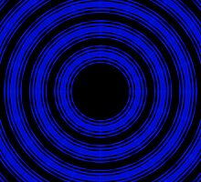 In Circles (Blue Version) by Roz Barron Abellera