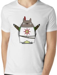 Praise the Totoro Mens V-Neck T-Shirt