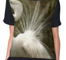 Great White Egret Chiffon Top