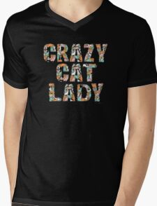 Crazy Cat Lady Mens V-Neck T-Shirt