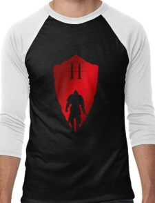 Knight Armour Shield Men's Baseball ¾ T-Shirt