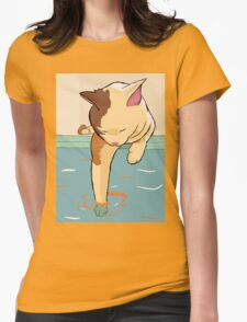 going kitty dipping Womens Fitted T-Shirt