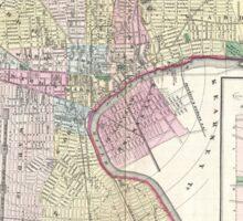 Vintage Map of Newark NJ (1872) Sticker