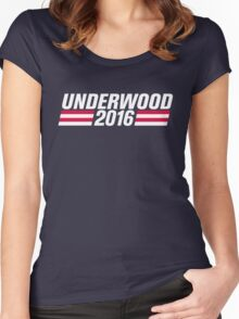 Frank Underwood 2016 - High Quality Resolution Women's Fitted Scoop T-Shirt