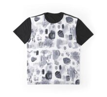 Crystal and Rock Inspired Pattern Graphic T-Shirt