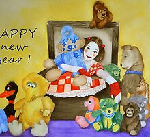 Mime & toys wish Happy New Year by Baina Masquelier