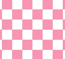Pink Checkerboard by BuzzEdition
