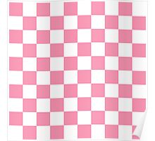 Pink Checkerboard Poster