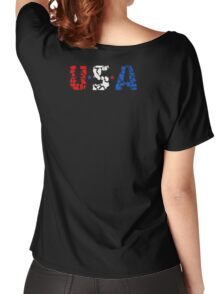 U S A Women's Relaxed Fit T-Shirt