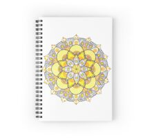 Yellow mandala Spiral Notebook