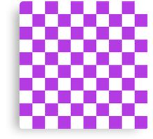 Purple Checkerboard Canvas Print