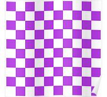 Purple Checkerboard Poster