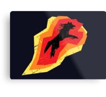 Fire Wolf (Texture) Metal Print