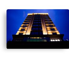 Building in the blue hour Canvas Print