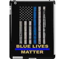 Thin Blue Line Flag POLICE COPS OFFICER All LIVES MATTER  iPad Case/Skin