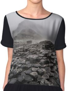 Early foggy morning in the land of hexagonal stones Chiffon Top