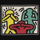 Keith Haring 3 Monkey by marshham2