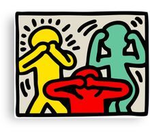 Keith Haring 3 Monkey Canvas Print